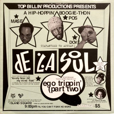 <img class='new_mark_img1' src='https://img.shop-pro.jp/img/new/icons3.gif' style='border:none;display:inline;margin:0px;padding:0px;width:auto;' />DE LA SOUL - EGO TRIPPIN' (PART TWO) (12) (VG+/VG+)