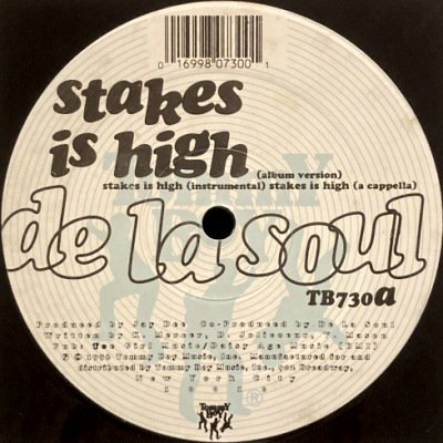 <img class='new_mark_img1' src='https://img.shop-pro.jp/img/new/icons3.gif' style='border:none;display:inline;margin:0px;padding:0px;width:auto;' />DE LA SOUL - STAKES IS HIGH (12) (VG+/VG+)