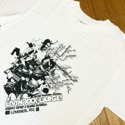 LIVIN' XXX-LARGE T-SHIRT (WHITE) (NEW)