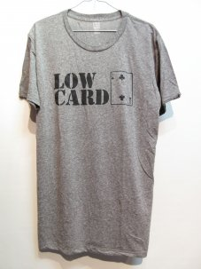 LOWCARD Stacked Logo T-Shirt Mサイズ グレー