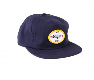 GOOD WORTH All Night Long Snapback ネイビー