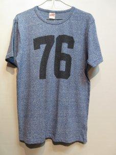 FREE RAGE 76 ナンバリング Tシャツ Lサイズ ブルー