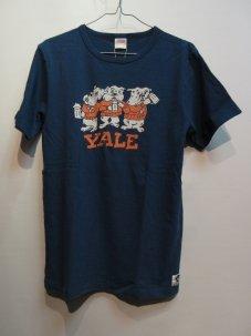 FREE RAGE YALE ブルドック リサイクルコットン Tシャツ Mサイズ ネイビー