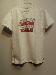 FREE RAGE YALE ブルドック リサイクルコットン Tシャツ Mサイズ ホワイト