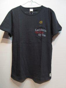 FREE RAGE ひまわり刺繍 リサイクルコットン ポケットTシャツ Mサイズ グレー