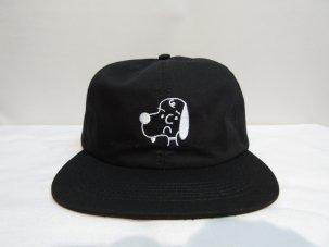 SHAKASTICS × KENKAGAMI SNOOPY 6 PANEL CAP ブラック