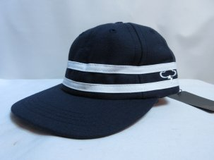 THE AMPAL CREATIVE Stripe 5-Panel Hat ネイビー
