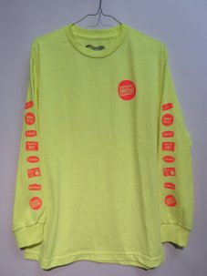 Managers Special GROCERY LABEL L/S TEE Mサイズ イエロー