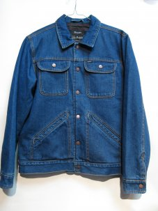 BRIXTON HARLAN DENIM JACKET WASHED INDIGO