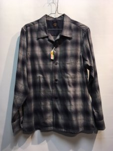 TOWNCRAFT OMBLE OPEN SHIRTS Mサイズ GREY