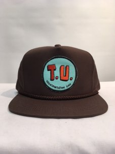 T.U.(TRANSPORTATION UNIT) T.U SNAPBACK ブラウン
