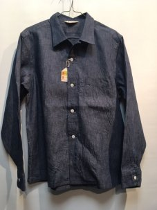 TOWNCRAFT DENIM OPEN SHIRTS Mサイズ デニム