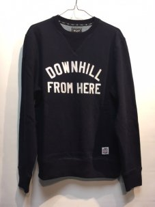 HUF DFH CREWNECK SWEATER Sサイズ INDIGO BLUE