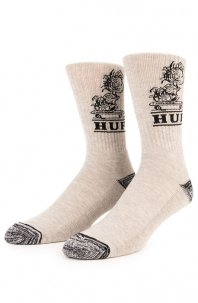 HUF x Pigpen Crew Socks Gray Heather