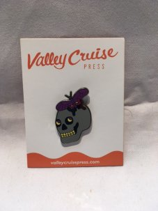 VALLEY CRUISE PRESS THE BUTTERFLY SKULL PIN By GABRIEL ACALA
