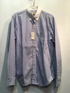 J.Crew SECRET WASH CLERIC SHIRT Mサイズ BLUE STRIPE
