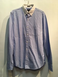 J.Crew SLIM SECRET WASH WHITE COLLAR SHIRT Mサイズ BLUE
