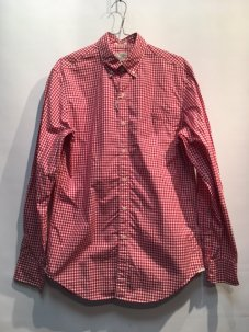 J.Crew CLASSIC SECRET WASH GINGHAM SHIRT Sサイズ RED GINGHAM