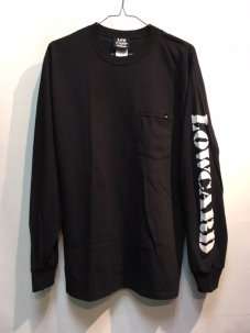 LOWCARD THE POCKET LONG SLEEVE TEE Mサイズ ブラック