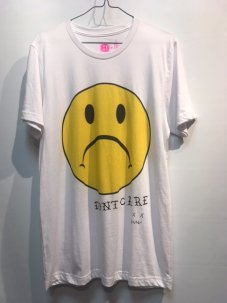 DON'T CARE Sad Face Tee Mサイズ ホワイト