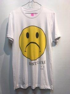 DON'T CARE Sad Face Tee Mサイズ ホワイト