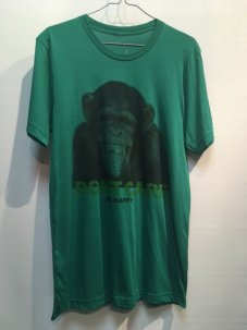 DON'T CARE Monkey tabs Tee Mサイズ グリーン