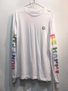 <img class='new_mark_img1' src='//img.shop-pro.jp/img/new/icons5.gif' style='border:none;display:inline;margin:0px;padding:0px;width:auto;' />DON'T CARE Arms Wide Open Rainbow Tee Mサイズ ホワイト