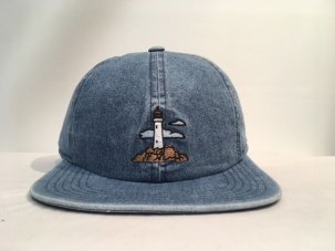 Barney Cools Lighthouse Baseball Hat INDIGO