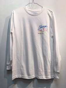 Riot Society Flamingo Cafe Long Sleeve Tee Sサイズ WHITE