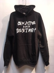 <img class='new_mark_img1' src='//img.shop-pro.jp/img/new/icons5.gif' style='border:none;display:inline;margin:0px;padding:0px;width:auto;' />THRASHER SKATE&DESTROY PULLOVER HOODSWEAT