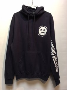 DON'T CARE MORNING BEER HOODIE NAVY