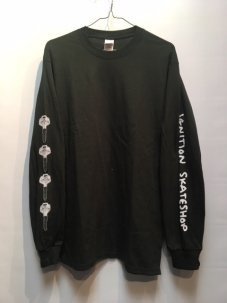 IGNITION SKATESHOP KEY L/S Tee GREEN