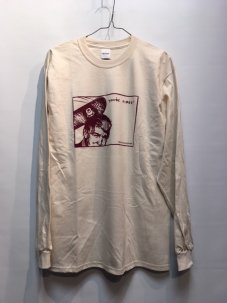 IGNITION SKATESHOP TRUMP L/S Tee NATURAL