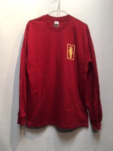 IGNITION SKATESHOP GIRL SUPPORT L/S Tee RED