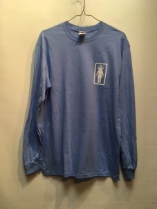 IGNITION SKATESHOP GIRL SUPPORT L/S Tee LT.BLUE