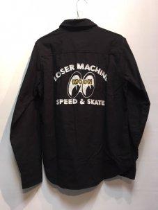 LOSER MACHINE × MOONEYES FLANNEL SHIRTS ブラック