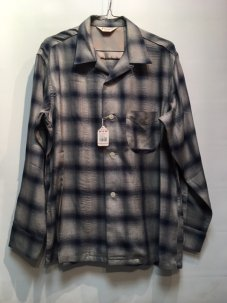 TOWNCRAFT OMBRE OPEN SHIRTS Mサイズ NAVY