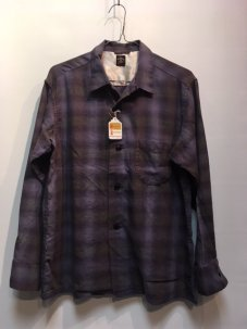 TOWNCRAFT OMBRE OPEN SHIRTS Mサイズ PURPLE