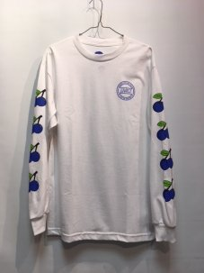 Gnarly Cherries Long Sleeve Tee White