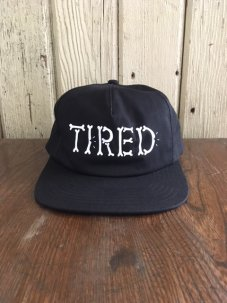 Tired Skateboards Bones Logo Black