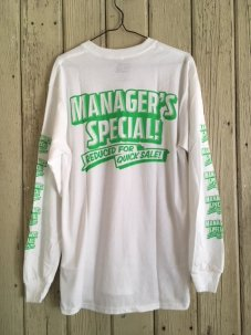 MANAGER'S SPECIAL WINDOW SIGN Longsleeve