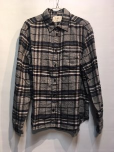 ARL Plaid Flannel Shirt GREY