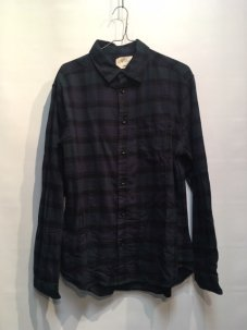 ARL Plaid Flannel Shirt NAVY