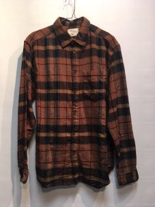 ARL Plaid Flannel Shirt BROWN