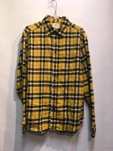 <img class='new_mark_img1' src='//img.shop-pro.jp/img/new/icons5.gif' style='border:none;display:inline;margin:0px;padding:0px;width:auto;' />ARL Plaid Flannel Shirt YELLOW