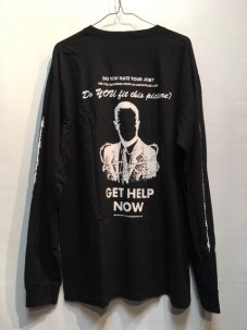 JUNGLES Get Help Now Long Sleeve Black