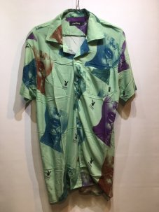 Good Worth Playboy Stamp Button Up Shirt