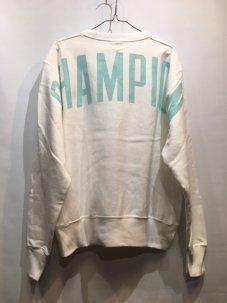 Champion リバースウィーブ Oversized Logo スウェット ホワイト