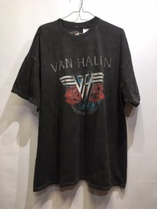 Van Halen Roses Tee Washed Black