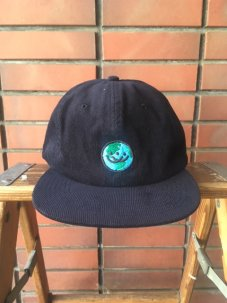 Doubles ltd Earth Logo 6 Panel Corduroy Snapback - Navy